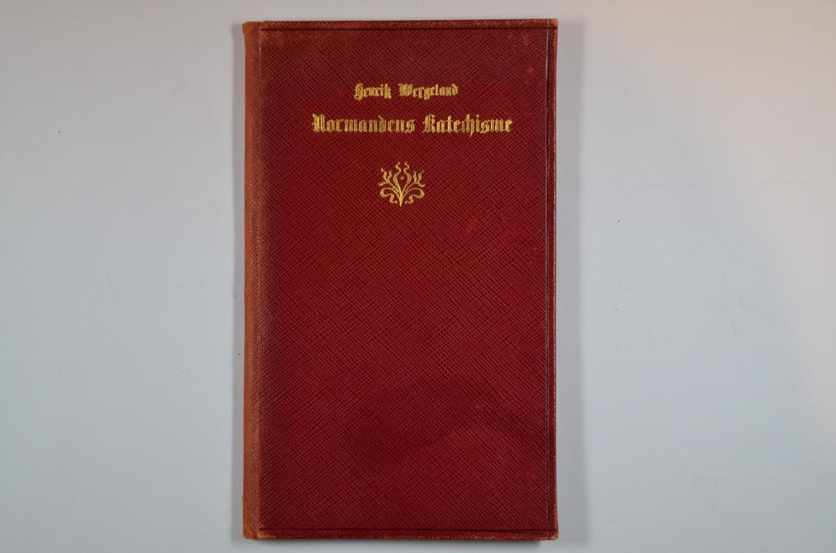 """Sjette hefte i serien """"Nordmandens katechisme"""" Utgitt på Einar Thorsons Forlag, Christiania 1832. Rødt omslag, 15 s."""