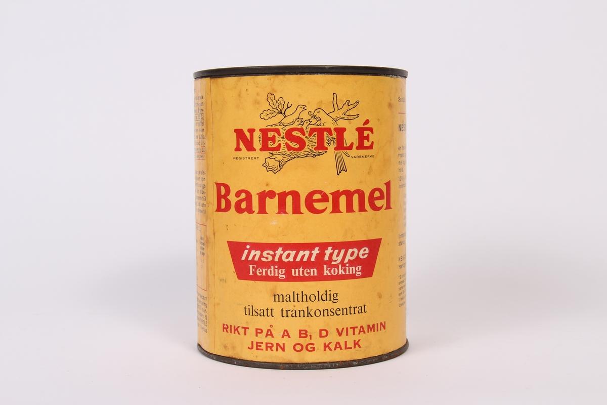 Gul boks med Nestle Barnemel