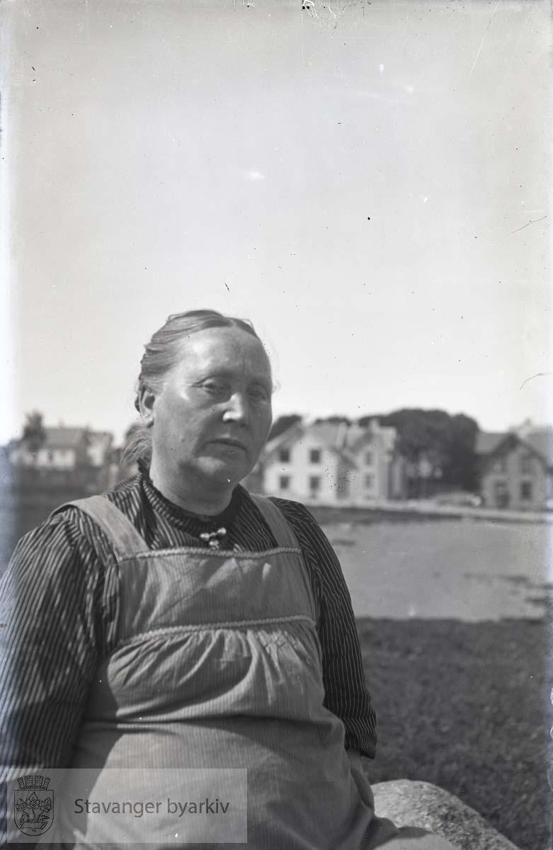 Portrett av Emilie Henriksen, Hans Henriksens mor