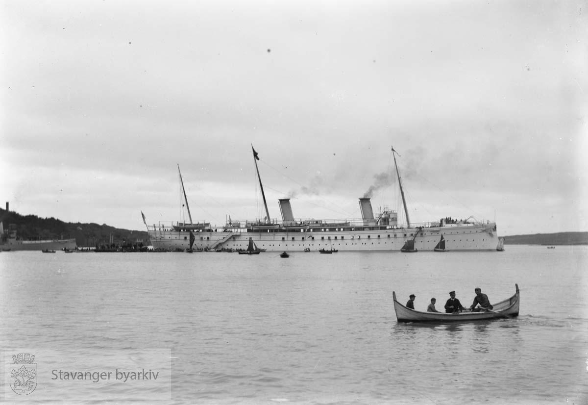 Keiser Wilhelm II og Keiserinne Augusta Victoria på besøk i Stavanger.