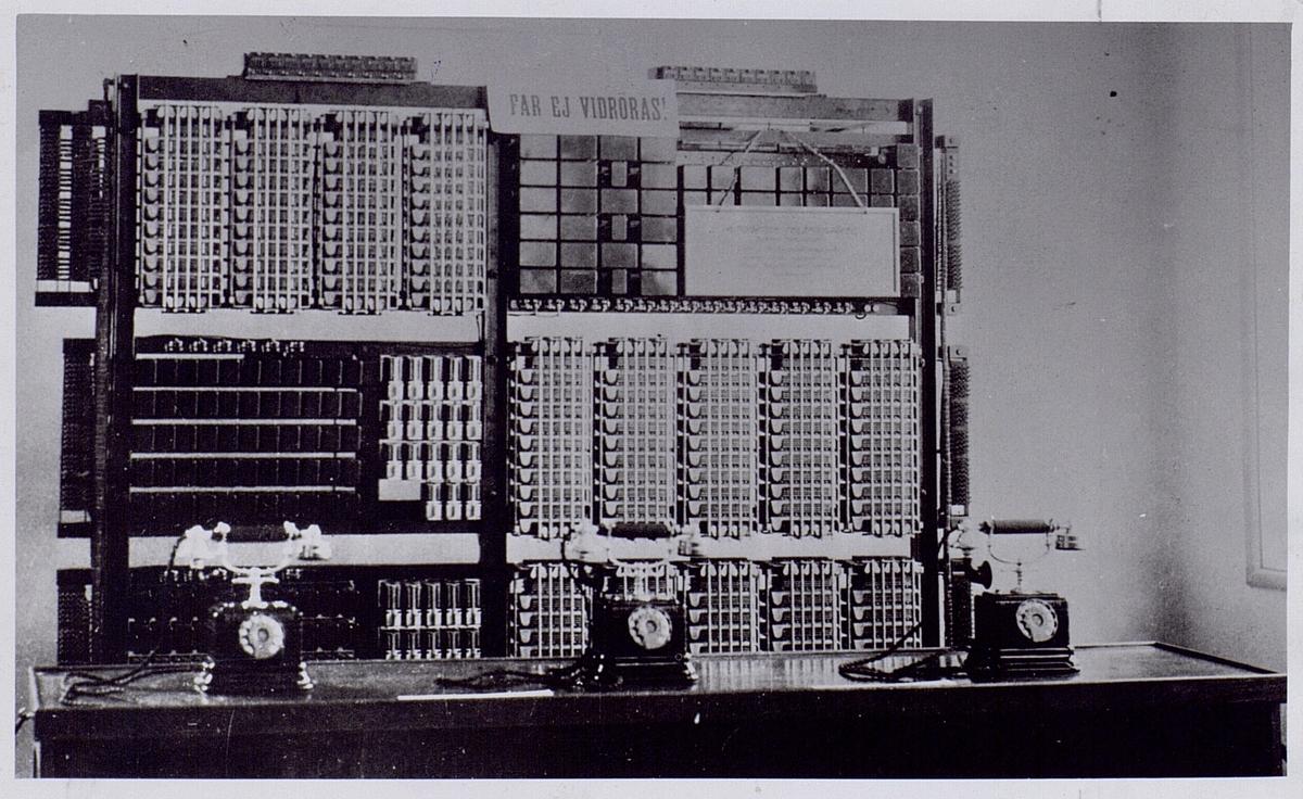 Göteborgsutställningen 1923. System Betulander. 100-nummers demonstrationsanläggning.