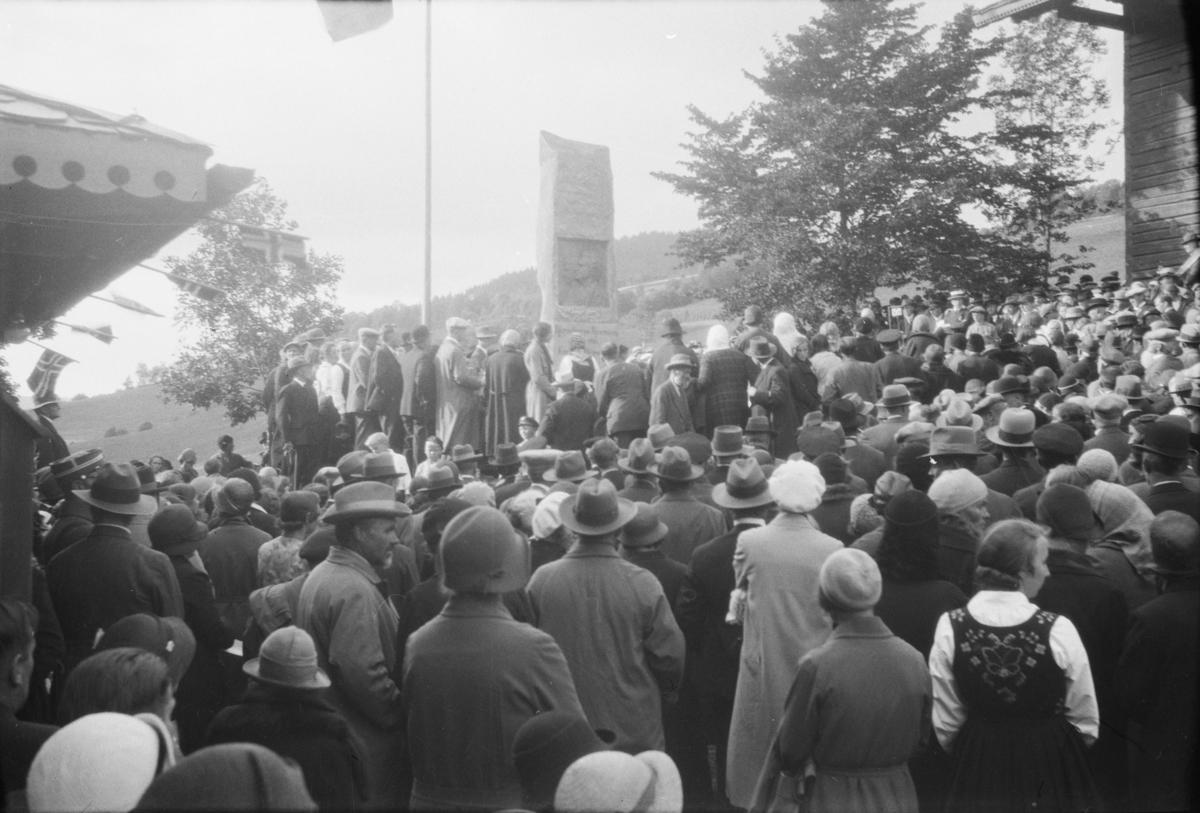 Minnehøytid for Bjørnson på Aulestad i 1932
