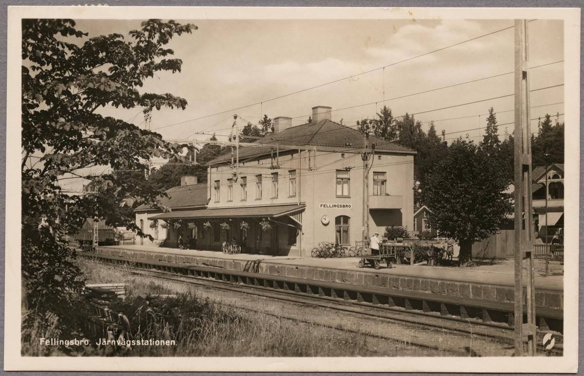 Fellingsbro järnvägsstationen.