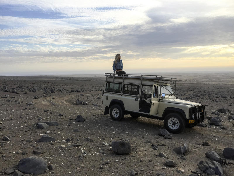 At work in Namibia. Photo: Courtesy of Nicola Brandt