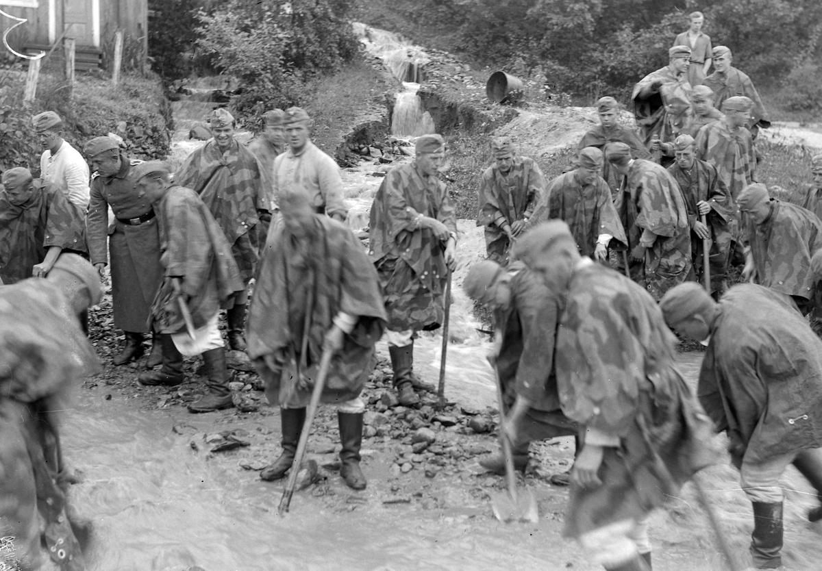 Flommen i Gaula 1940 - Tysk arbeidstjeneste