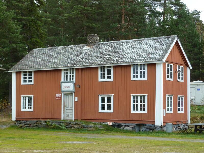 Nystøga på Valdres Folkemuseum, 2017. Den eine bygningen frå Nystøga vart flytt til museet i 1954. Fire år seinare vart dei andre bygningane på Nystøga øydelagde av brann.
