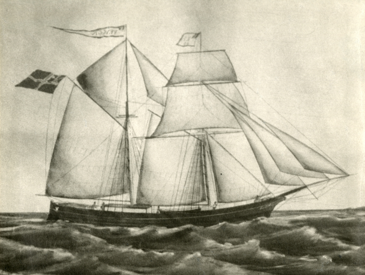 Skonnertbrigg 'Frigga' (b.1861, J. C. Berg, Soppermeer, Holland)