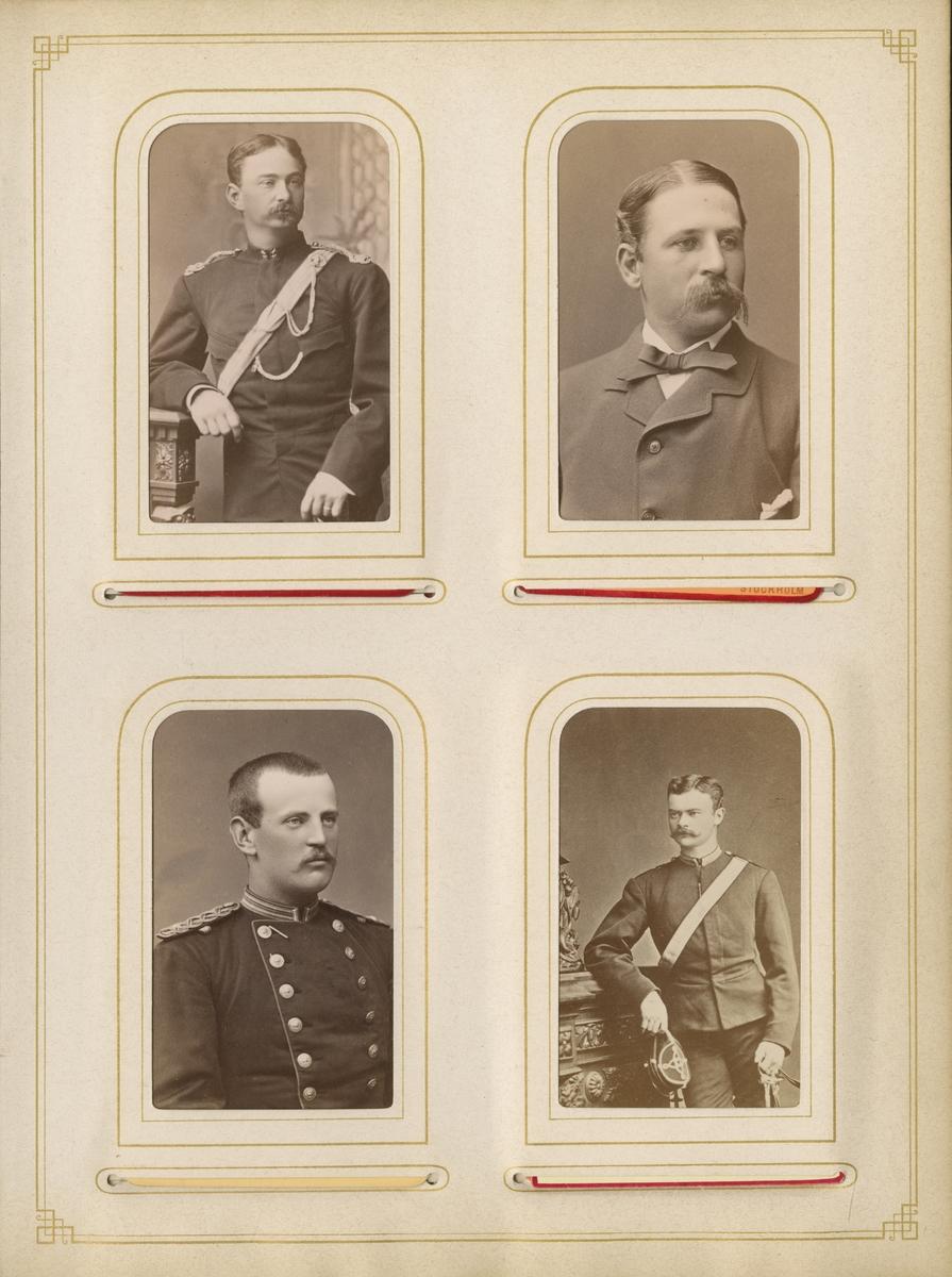 Porträtt av Ragnar Theodor Ling-Vannerus, löjtnant vid Jämtlands hästjägarkår K 8.