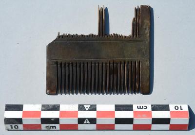 bilde av kam funnet i skipsvraket Bispevika 16