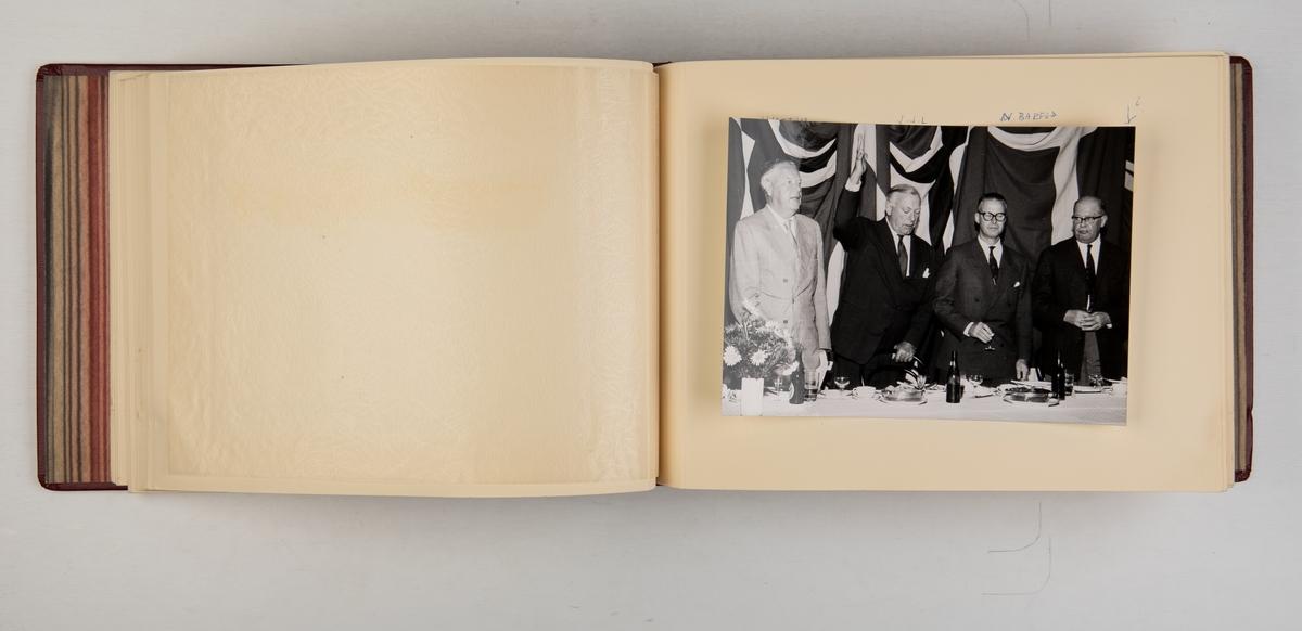 Album med fotografier fra prøveturen til M/S 'Belvera' i 1959.