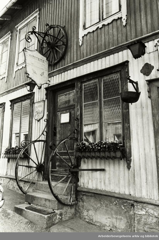 Kampen. Normannsgata 19. Arne Egils atelier. Juli 1981