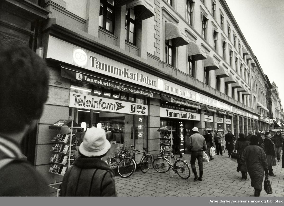 Karl Johans gate. Desember 1984