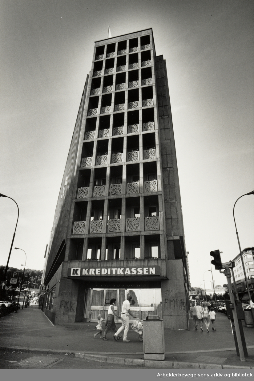 Klingenberg, Klingenberggata. Kreditkassen. 12. juli 1989