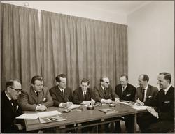 Redaktionskommittén vid Konduktörsposten på 60- och 70-talet