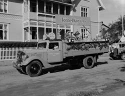 Hamardagen 1946. Lastebil D-3014, Opel Blitz, opptog, Tønnel