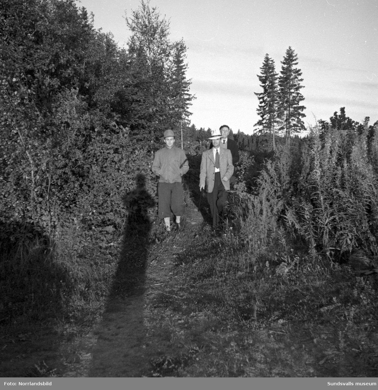 I en polisjakt i Harmånger efter en förrymd kriminalpatient från Sidsjöns sjukhus deltog bland annat statspolisen från Sundsvall med bland andra hundföraren Erik Johansson och schäfern Yoggi. Rymlingen greps så småningom på en stulen cykel vid en vägspärr i Enånger.