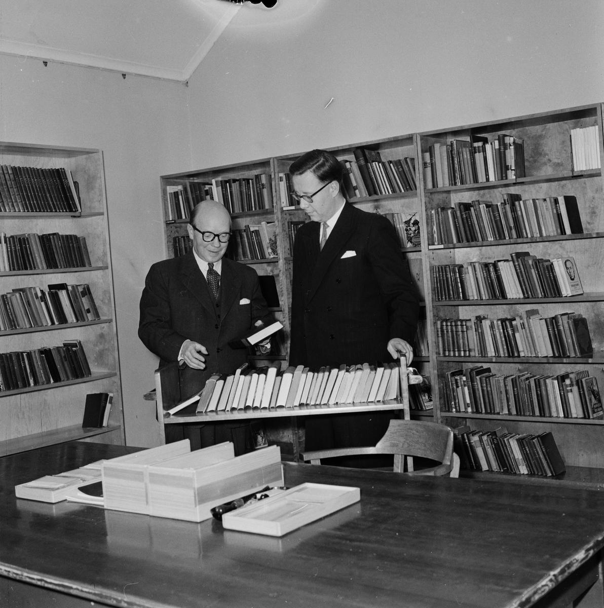UNT-reportage, bibliotek, Tierp januari 1959