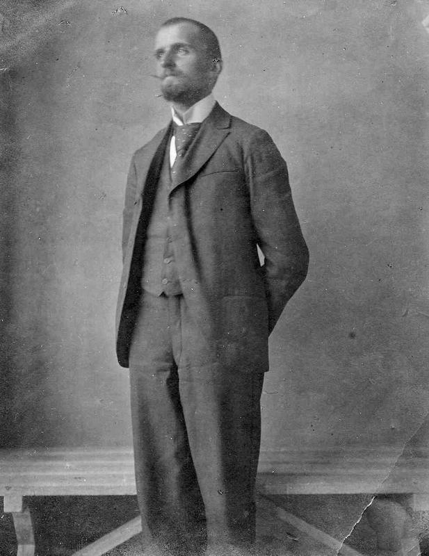 Hans Aall, fotografert i 1896