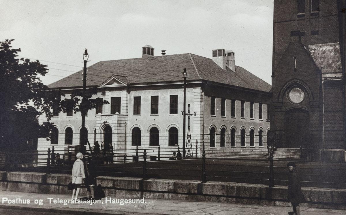 Parti av byen sett mot nordvest, ca. 1933.
