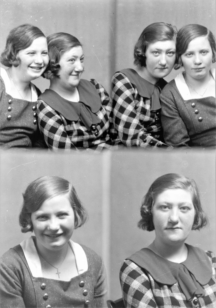 Portrett. To unge kvinner. Bestilt av Frk Natvik