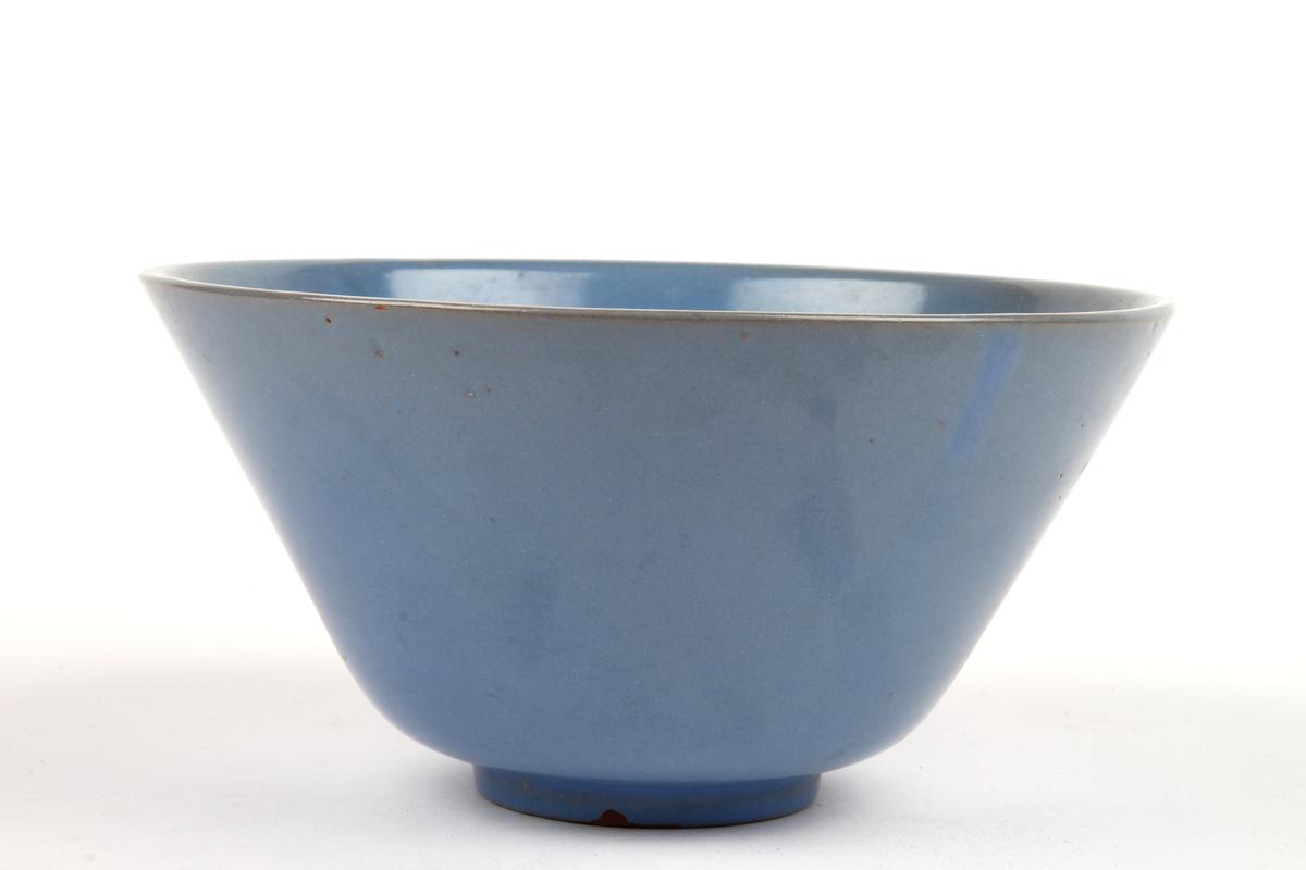 Blå skål.