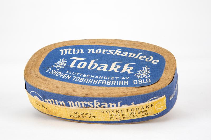 Tobakkeske fra Skøyen Tobakkfabrikk. (Foto/Photo)