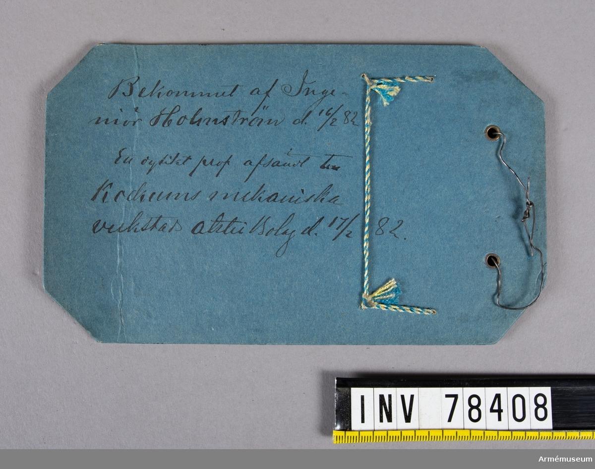 Grupp I:VII. Inkom den 16/8 1932. Från K. Arméförvaltningens Intendentsdep. D.-n:r 32. Depos.