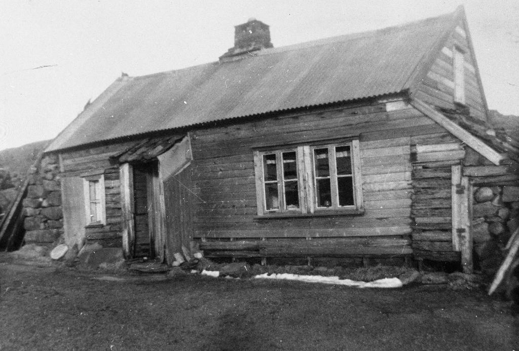 Husmannsplassen Bergene. Huset vart bygd ca 1850. Sem Bergene budde her til ca 1952. Sjå også : 1990.1TIM.1.53 og 54, 1989.1TIM.21.002 og 1987.6TIM.8.010