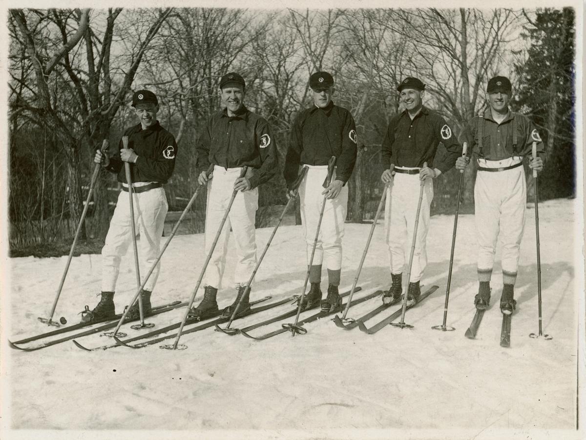 Distriktsmästarna i Budkavleåkning 1929