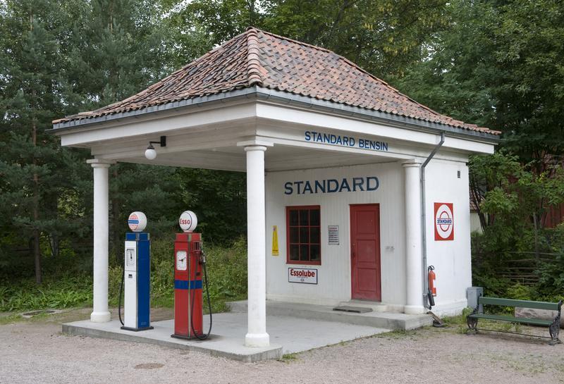 Bensinstasjonen fra Holmestrand. (Foto/Photo)