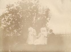 """Text i fotoalbum: """"På bondbröllop i Bredåker hösten 1901."""""""