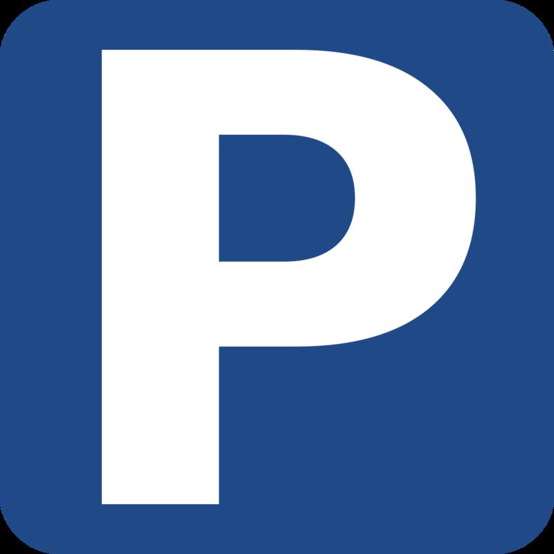 Parkeringsskilt; blå firkant med hvit P (Foto/Photo)