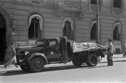 """Ølleveranse til """"Deutsches Haus"""" i Karl Johans gate 37."""