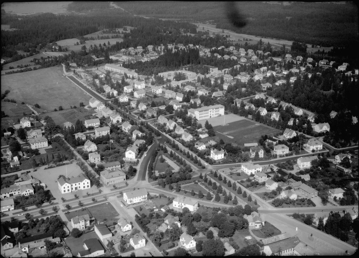 Flygfoto över Sävsjö i Jönköpings län. 1172/1963