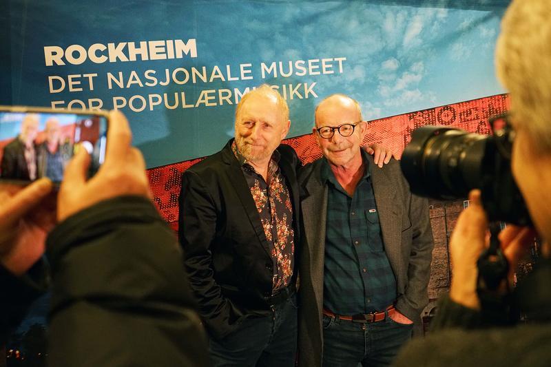 Halvdan Sivertsen (fv) og Jonas Fjeld på Rockefeller.