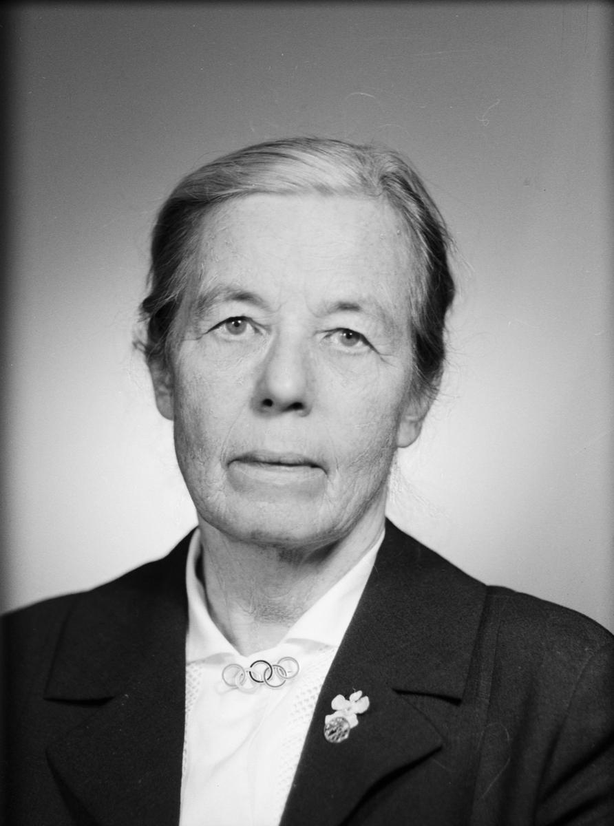 Ateljéporträtt - Anna Geijer, Uppsala 1962