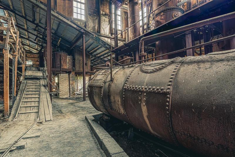 Foto: Ali Suliman /Anno museum. Bildet viser sodahuset i fabrikkbygningen ved Klevfos industrimuseum.
