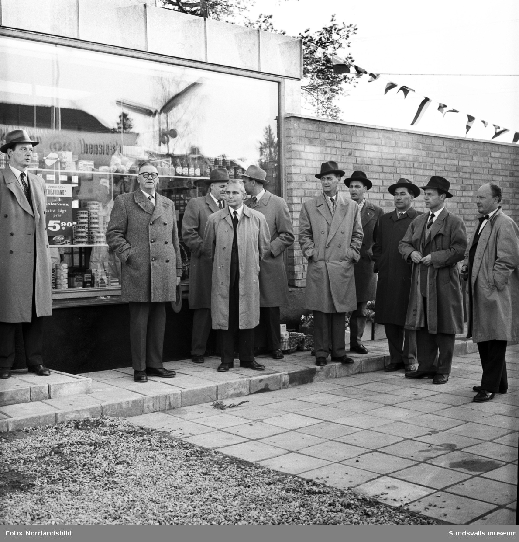 Invigning av OK bensinstation på Hagavägen.