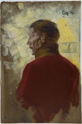 Studie av Eilert Waldemar Preben Ramm av Oscar Wergeland. 1882 – 1885. Eidsvoll 1814 (Foto/Photo)