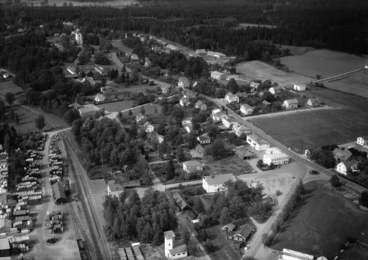 Flygfoto över Korsberga i Vetlanda kommun, Jönköpings län 1058/1967