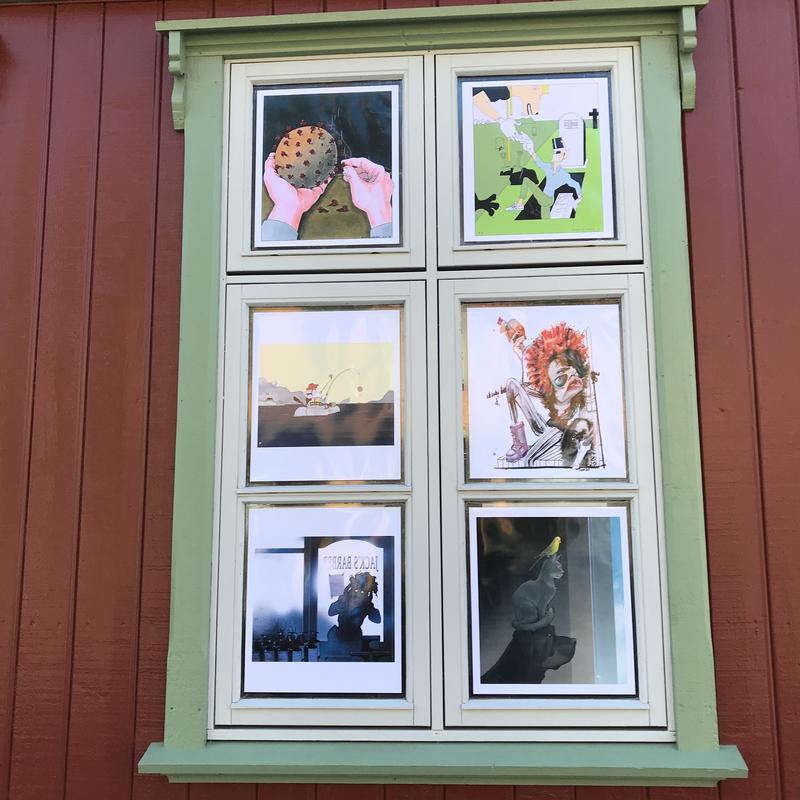 Tegninger av Knut Høihjelle, Finn Graff, Marvin Halleraker, Hilde Thomsen, Siri Dokken og Christian Bloom (Foto/Photo)