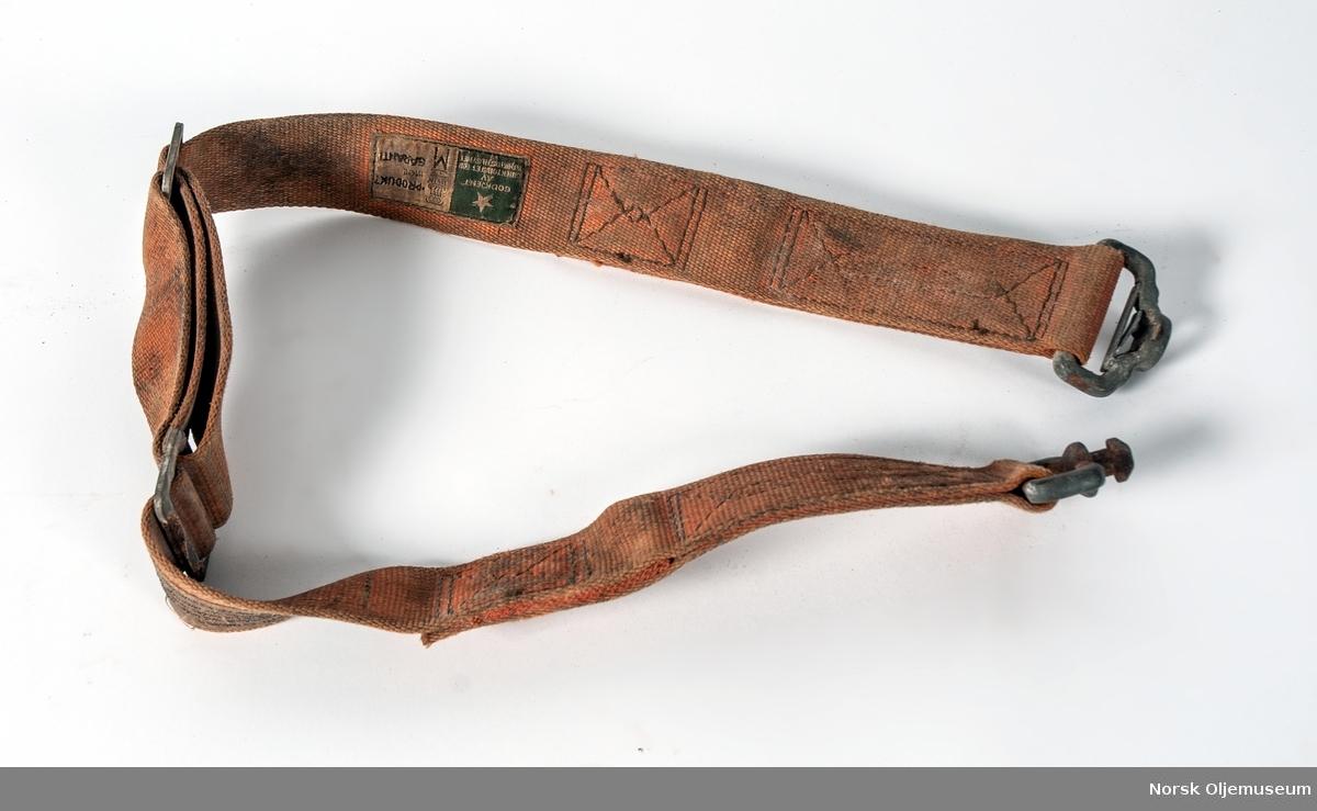 Sikkerhetsbelter av denne type ble brukt på oljeplattformer. De ble brukt både over og under vann.