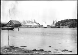 Gravningssundet med salteriet Skuteholmen, Hvaler  ca.1890.