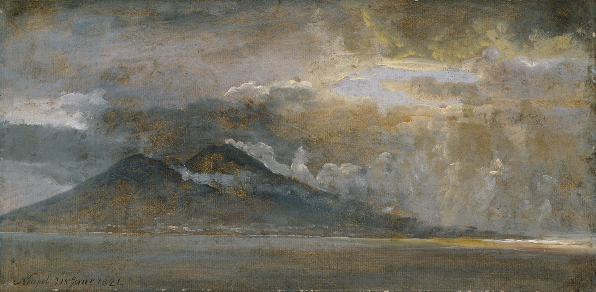 Napoligolfen med Vesuv [Maleri]