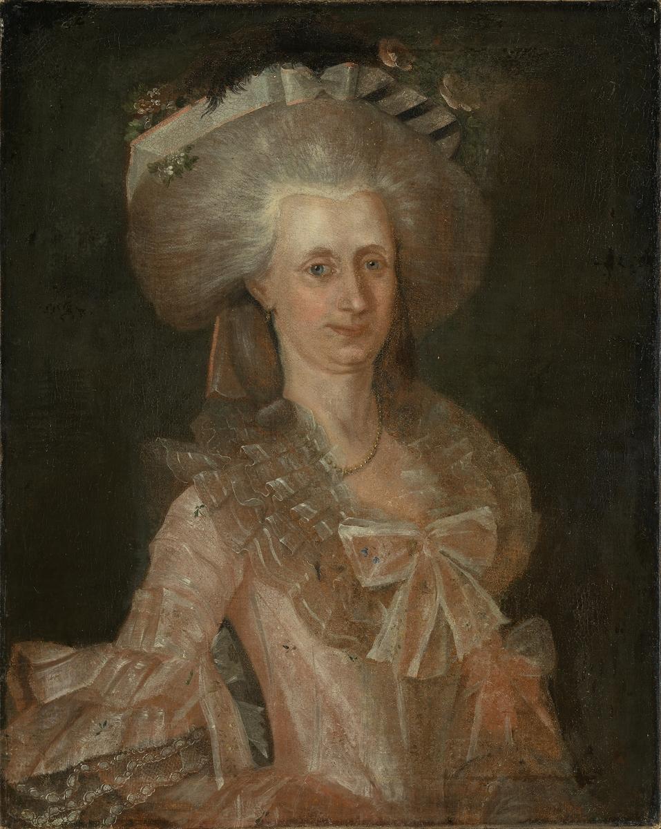 Fru oberstløytnant Vosgraff, f. Trochmann Knap [Maleri]