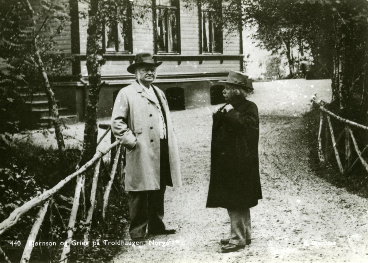 Troldhaugen, Grieg, Bjørnson, postkort,