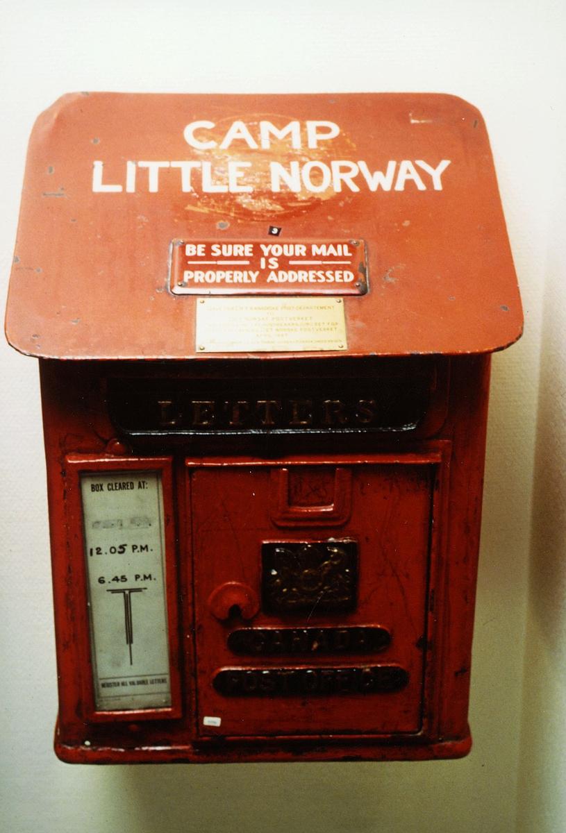 postkasser, utland, brukt i Camp little Norway, 2. verdenskrig
