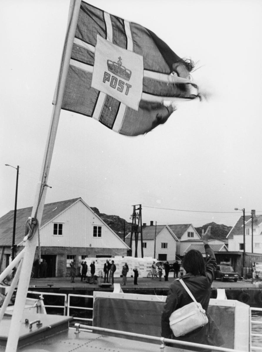 symboler, postflagg, på båt, mennesker