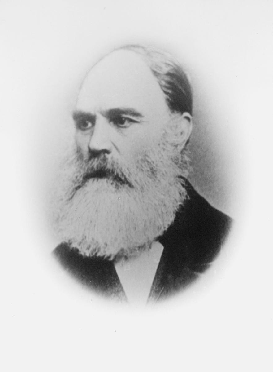 portrett, postmester, John Andreas Gill