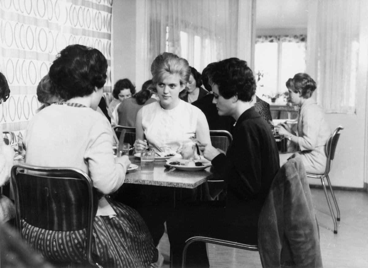 postskolen, kantine, bevertning, damer, interiør